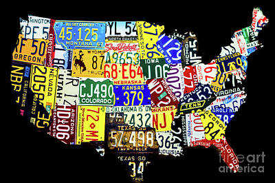 Photograph - America In License Plates by Miles Whittingham