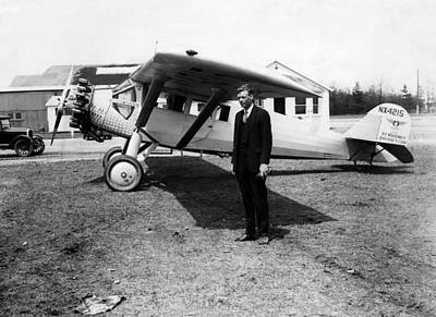 Ev-in Photograph - America Pilot Charles Lindbergh by Everett
