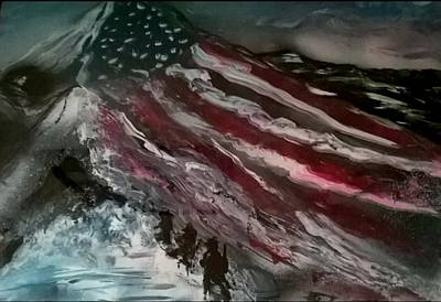 Painting - America Strong by CA Simonson