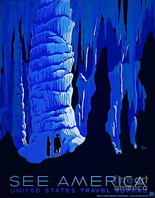 Screen-print Photograph - America Tourism Poster 1939 by Padre Art