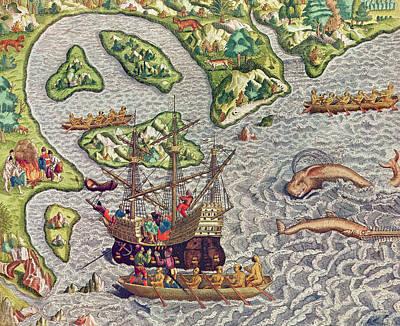 Americae Tertia Pars Art Print by Theodore de Bry