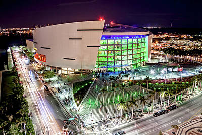 Photograph - American Airline Arena- Miami by Joe Myeress