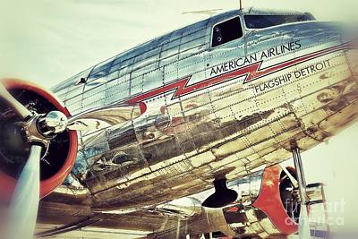 American Airlines Art Print by AK Photography