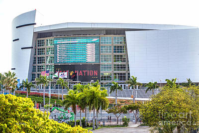 Photograph - American Airlines Arena Miami by Rene Triay Photography