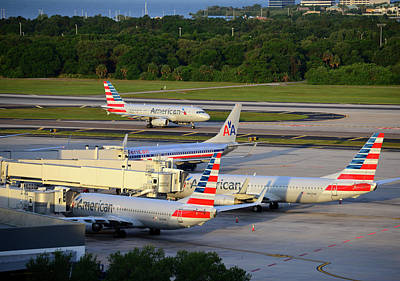 Photograph - American Airlines At Tia by David Lee Thompson