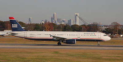 Photograph - American Airlines N578uw Panoramic by Joseph C Hinson Photography