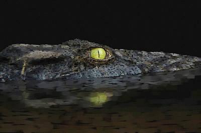 Pastel - American Aligator by Kathie Miller
