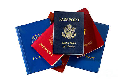 Photograph - American And International Passports by Olivier Le Queinec