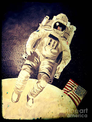 Painting - American Astronaut by Kim Chambers