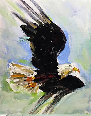 Charles Wallis Painting - American Bald Eagle by Charles Wallis