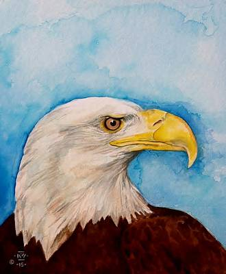 American Eagle Painting - American Bald Eagle by Nigel Wynter