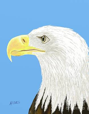 Digital Art - American Bald Eagle by Stacy C Bottoms