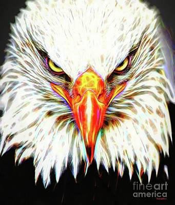 Digital Art - American Bald Eagle by Tina LeCour