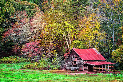 Photograph - American Barn In The Smokies by Debra and Dave Vanderlaan