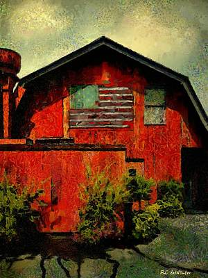 Painting - American Barn by RC DeWinter