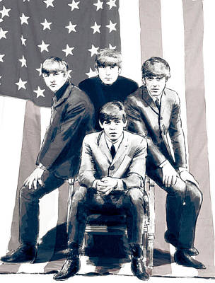Ringo Digital Art - American Beatles by Kurt Ramschissel