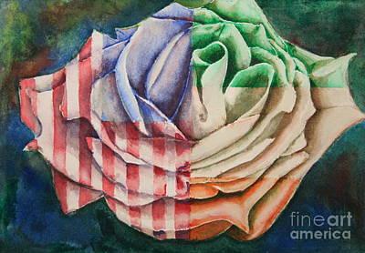 American Beauty Irish Rose Print by Ann Sokolovich