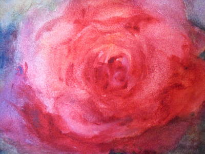 Print featuring the painting American Beauty by Sandra Strohschein