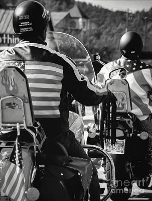 Photograph - American Bikers - Bw Art by Kathleen K Parker