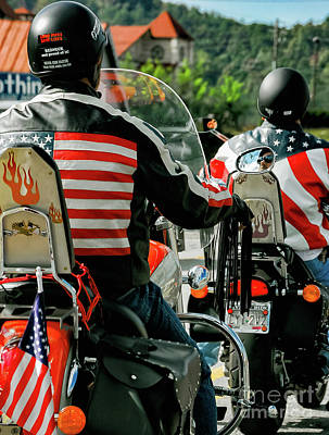 Photograph - American Bikers by Kathleen K Parker