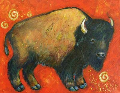 American Bison Painting - American Bison by Carol Suzanne Niebuhr