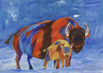 Painting - American Bison by Jamie Frier