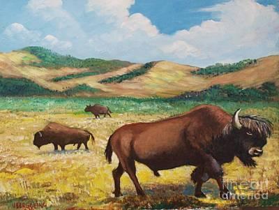 Painting - American Bison by Jean Pierre Bergoeing