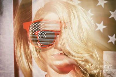Photograph - American Blonde Beauty 8767 by Amyn Nasser