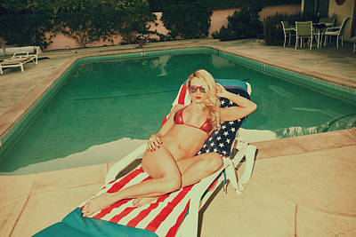 Photograph - Babe Poolside by Amyn Nasser