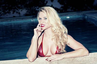Photograph - Blonde Babe 9156 by Amyn Nasser