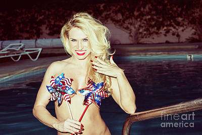 Photograph - American Blonde Beauty 9198 by Amyn Nasser
