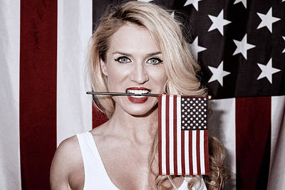 Photograph - American Blonde Beauty 9234 by Amyn Nasser