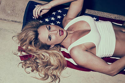 Photograph - Star Spangled Babe by Amyn Nasser