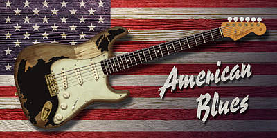 Digital Art - American Blues by WB Johnston