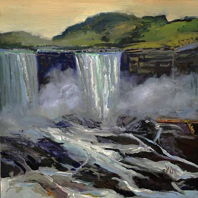 Painting - American Bridal Veil Falls  by J R Baldini