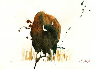 American Buffalo Painting Original by Juan  Bosco