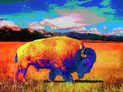 Painting - American Buffalo by Sandra Selle Rodriguez