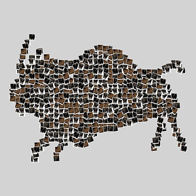 Buffalo Art Digital Art - American Buffalo by Tommytechno Sweden