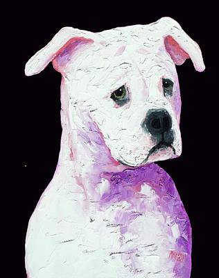 Puppy Lover Painting - American Bully by Jan Matson
