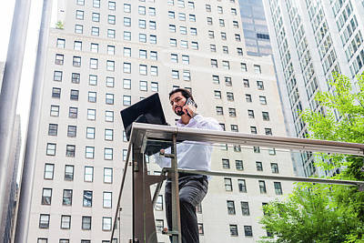 Photograph - American Business Man With Beard Working In New York by Alexander Image