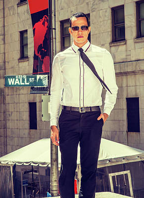 Photograph - American Businessman On Wall Street by Alexander Image