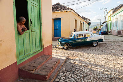 Trinidad House Photograph - American Car, Cuba by Voisin/phanie