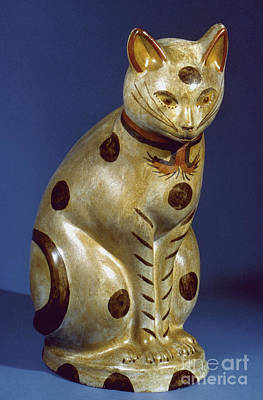 Photograph - American Cat Figure by Granger