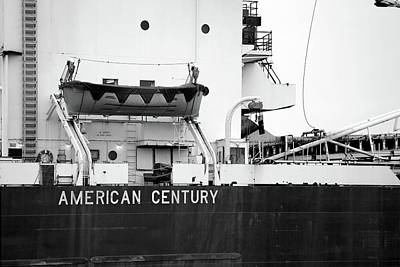 Photograph - American Century Closeup 2 Bw by Mary Bedy