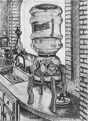 Ceramic Sinks Drawing - American Champagne by Rich Travis