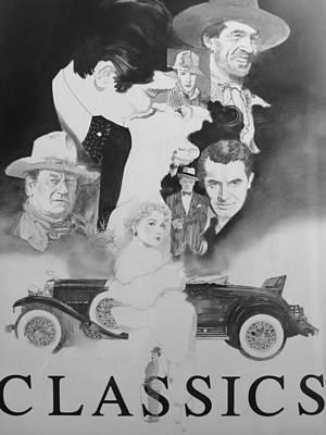 American Cinema Classics Art Print by Chuck Hamrick