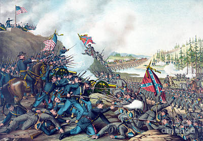 American Civil War, Battle Of Franklin Art Print