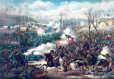 American Civil War, Battle Of Pea Art Print by Science Source