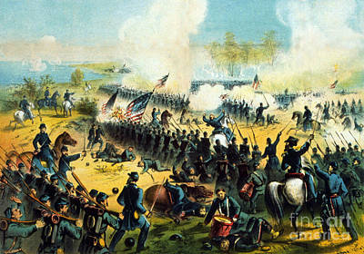 Army Of The Potomac Photograph - American Civil War, Battle Of Shiloh by Science Source