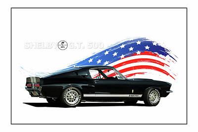 Cobra Digital Art - American Classic by Peter Chilelli